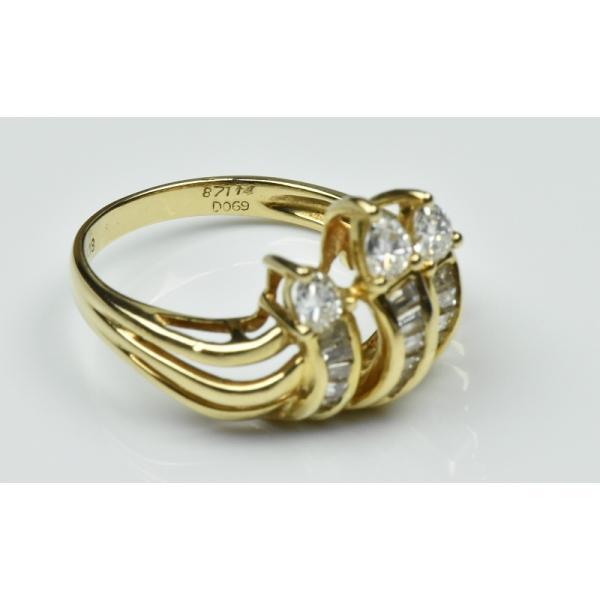 【鑑別】K18 合計 0.69ct ダイヤモンドリング 12.5号 指輪|osaka-jewelry|07