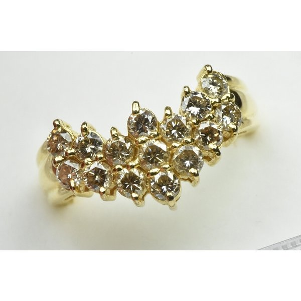 K18 ゴールド V字 1.05ct ダイヤモンドリング 11号 指輪 osaka-jewelry