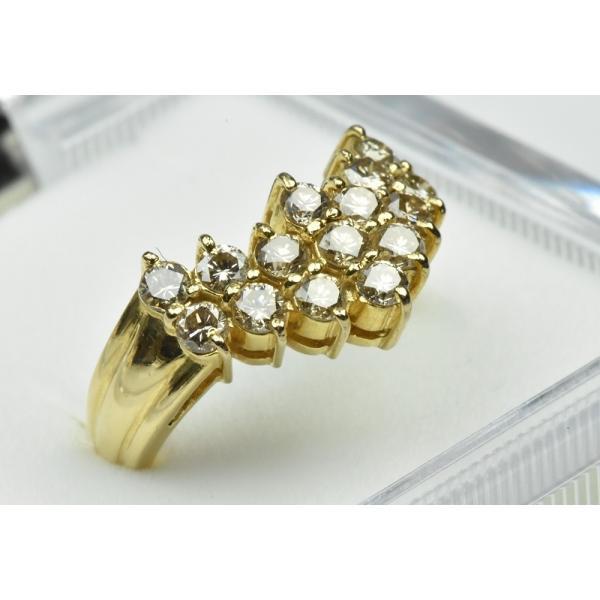 K18 ゴールド V字 1.05ct ダイヤモンドリング 11号 指輪 osaka-jewelry 02