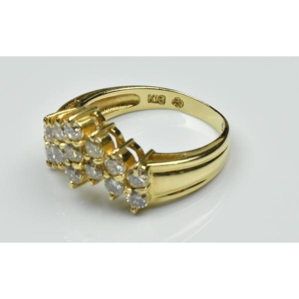K18 ゴールド V字 1.05ct ダイヤモンドリング 11号 指輪 osaka-jewelry 05