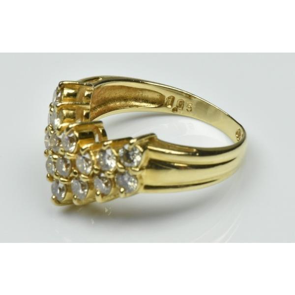 K18 ゴールド V字 1.05ct ダイヤモンドリング 11号 指輪 osaka-jewelry 06