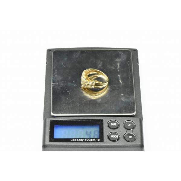 K18 ゴールド V字 1.05ct ダイヤモンドリング 11号 指輪 osaka-jewelry 07