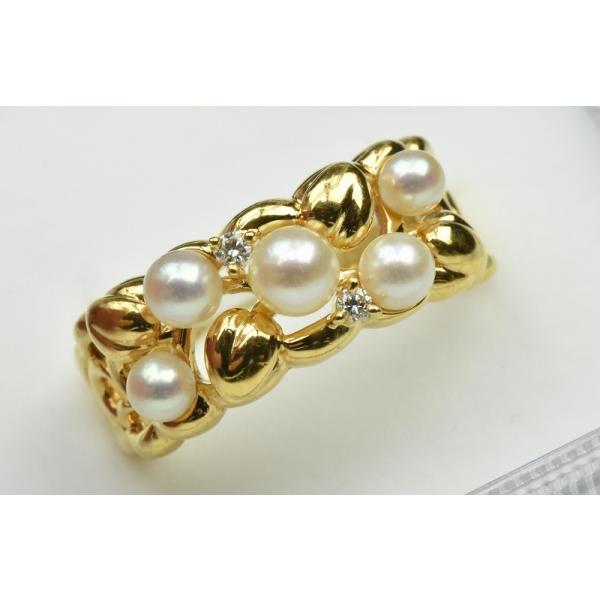 TASAKI 田崎真珠 K18 ベビーパール リング 10号 指輪|osaka-jewelry