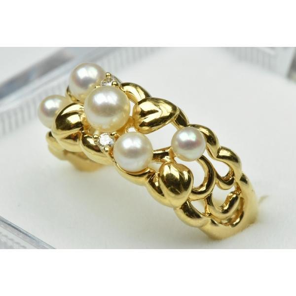 TASAKI 田崎真珠 K18 ベビーパール リング 10号 指輪|osaka-jewelry|02