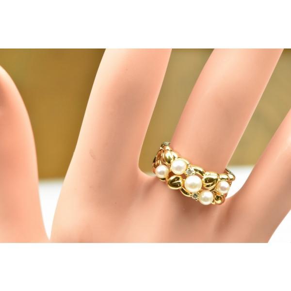 TASAKI 田崎真珠 K18 ベビーパール リング 10号 指輪|osaka-jewelry|03
