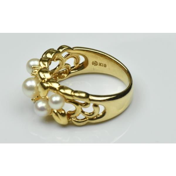 TASAKI 田崎真珠 K18 ベビーパール リング 10号 指輪|osaka-jewelry|05