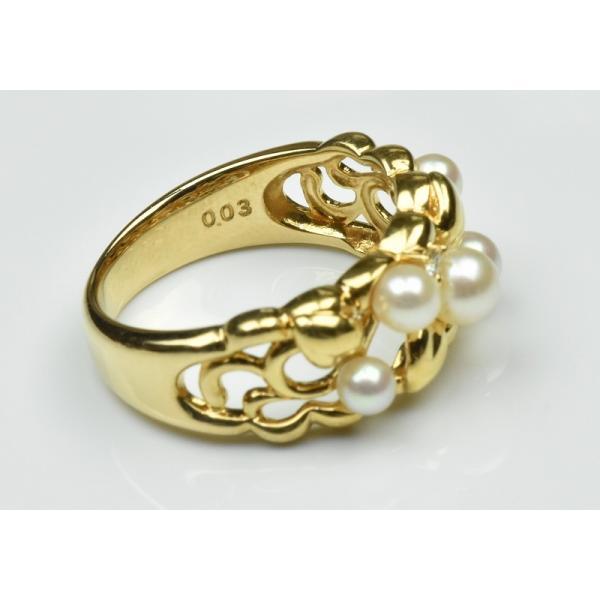 TASAKI 田崎真珠 K18 ベビーパール リング 10号 指輪|osaka-jewelry|06