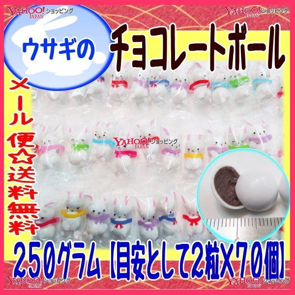 おかし企画 OE石井 250グラム【目安として2粒×70個】  ウサギのチョコレートボール 【チョコ】×1袋 +税 【ma】【メール便送料無料】