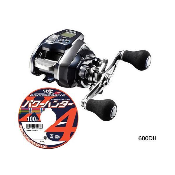 シマノ(shimano)18 フォースマスター 600DH PEライン3号200mセット (よつあみ パワーハンタープログレッシブX4) 電動リールに糸を巻いてお届け