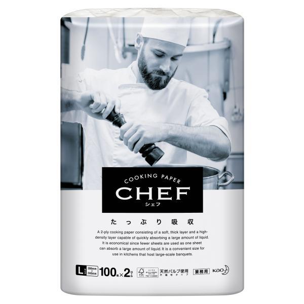 シェフ CHEF たっぷり吸収 キッチンペーパー L 100枚×2R×6袋入 花王