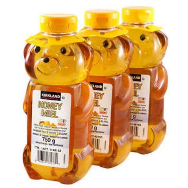 KS ハニー ベア くまのボトル入り はちみつ 750g×3本セット カナダナンバーワングレード【ホワイトハニー】 ハチミツ