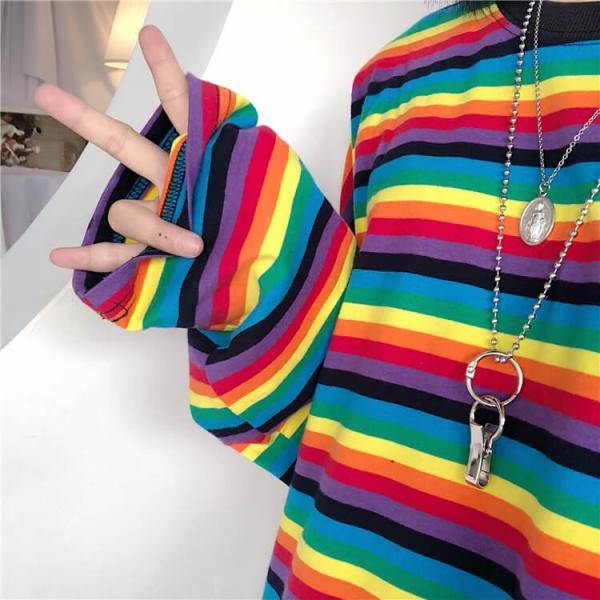 Tシャツ トップス レディース カットソー ボーダー プルオーバー ラウンドネック 丸首 長袖 送料無料 今だけ!|oshare-mania|07