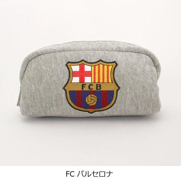 筆箱 ペンケース バルサ レアル 刺繍スウェットポーチ 公式 サッカー 筆記用具|oshare-zakka|02