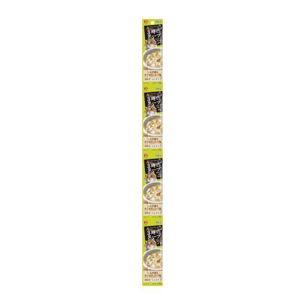 ペットライン キャネット 3時のスープ しらす添えかつおだしスープ風 100g(25g×4連)[happiest]