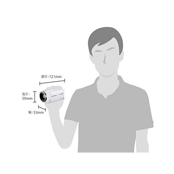 パナソニック HDビデオカメラ V480MS 32GB 高倍率90倍ズーム ホワイト HC-V480MS-W