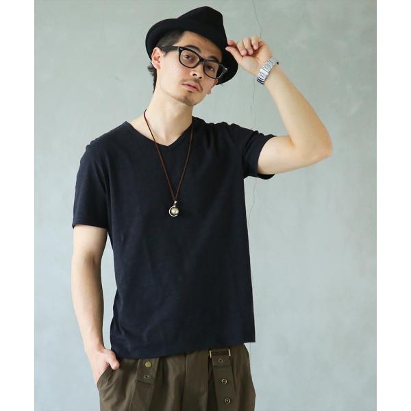 Tシャツメンズトップスカットソー半袖VネックMサイズLサイズXLサイズシンプルデザインVネックTシャツ※メール便可※ 10