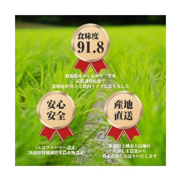 産地直送 新潟県産 令和2年産 おおしま育ち コシヒカリ 2.0kg 白米|oshima-sodachi|02