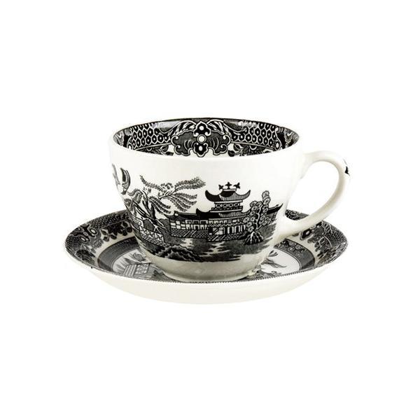 イギリス食器バーレイ社 ブラックウィロー ブレックファースト カップ&ソーサー 300ml ostuni