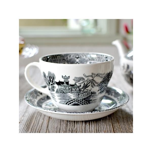 イギリス食器バーレイ社 ブラックウィロー ブレックファースト カップ&ソーサー 300ml ostuni 02