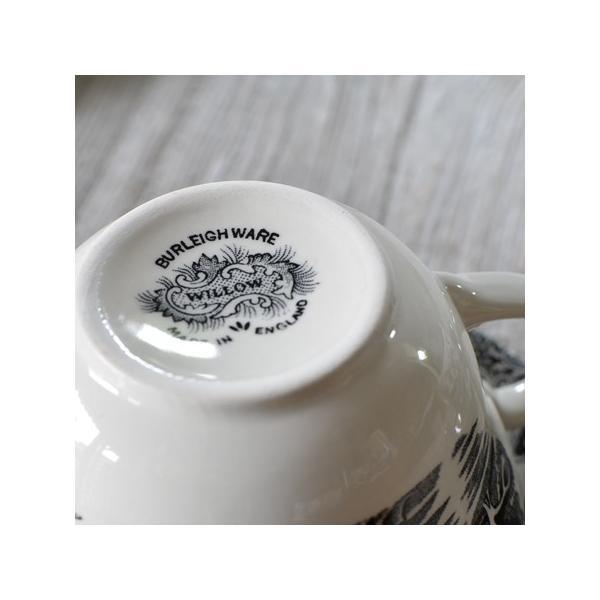 イギリス食器バーレイ社 ブラックウィロー ブレックファースト カップ&ソーサー 300ml ostuni 03