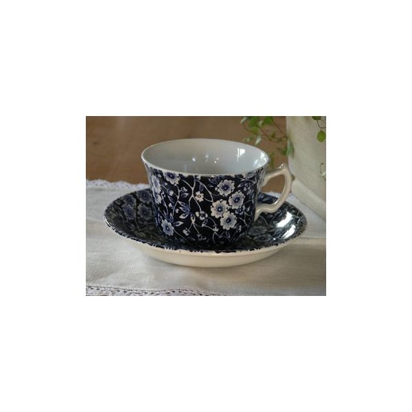 イギリス食器バーレイ社 ブルーキャリコ カップ&ソーサー 200ml|ostuni