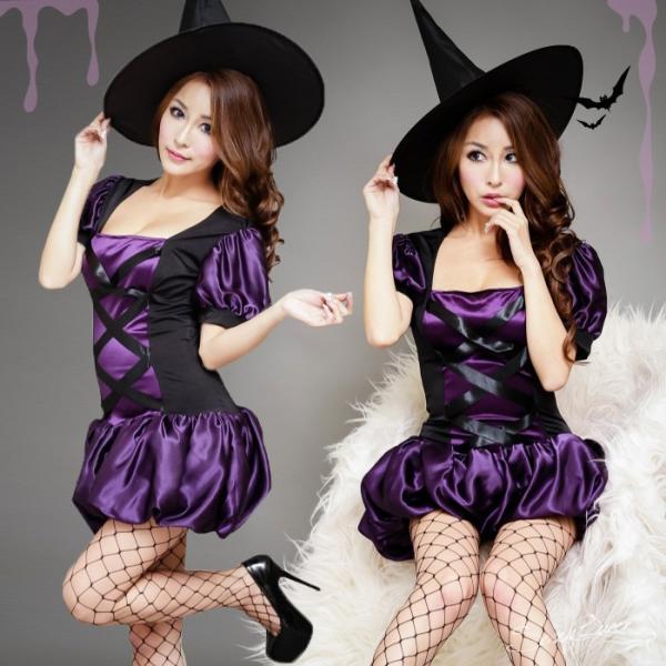 ハロウィン コスプレ 魔女 レディース 大きいサイズ 衣装 仮装 ホラー コスチューム セクシー 変装 かわいい ウィッチ 大人用|osyarevo