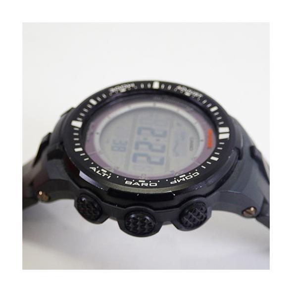 カシオ プロトレックトリプルセンサー ソーラー ブラックベルト ブラック文字盤 PRW-3000|otakaraya|03