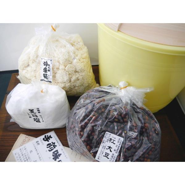 手作り味噌セット 紅大豆(10Lポリ樽付 こだわり食塩)