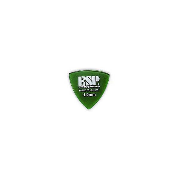 ピック 5セット ESP PD-PSU10 Green Triangle ULTEM Pick トライアングル ウルテム ピック 1.0mm ギター ベース