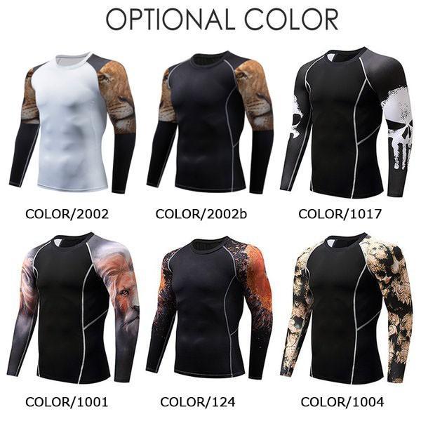 加圧インナー アンダーシャツ メンズ 加圧シャツ コンプレッションウェア 吸汗 速乾 トレーニングウェア スポーツウェア 長袖|otasukemann|02
