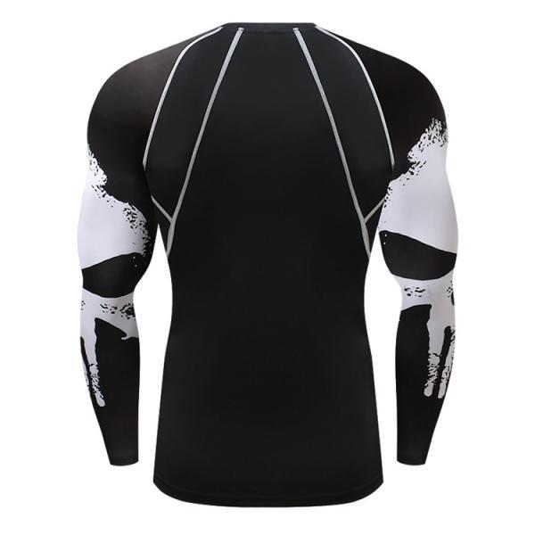 加圧インナー アンダーシャツ メンズ 加圧シャツ コンプレッションウェア 吸汗 速乾 トレーニングウェア スポーツウェア 長袖|otasukemann|11