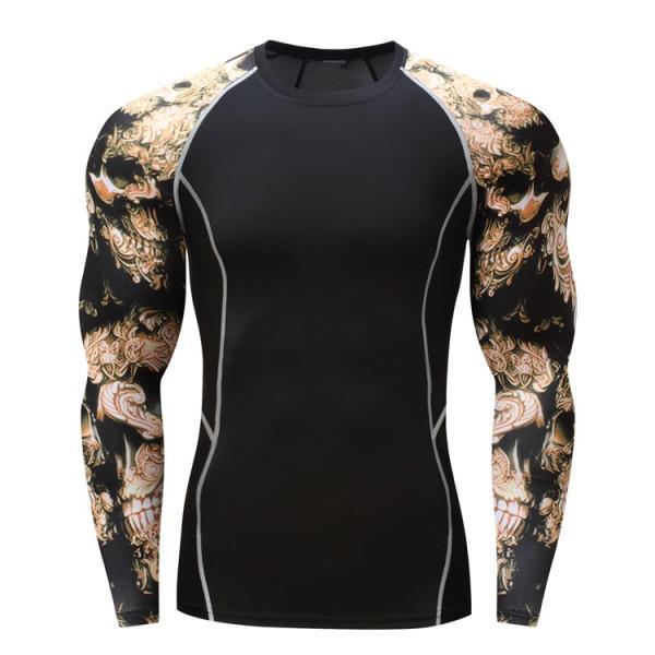 加圧インナー アンダーシャツ メンズ 加圧シャツ コンプレッションウェア 吸汗 速乾 トレーニングウェア スポーツウェア 長袖|otasukemann|12