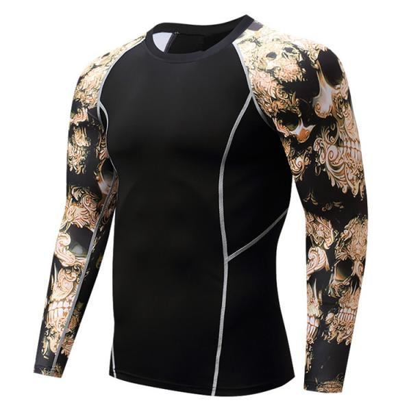 加圧インナー アンダーシャツ メンズ 加圧シャツ コンプレッションウェア 吸汗 速乾 トレーニングウェア スポーツウェア 長袖|otasukemann|13