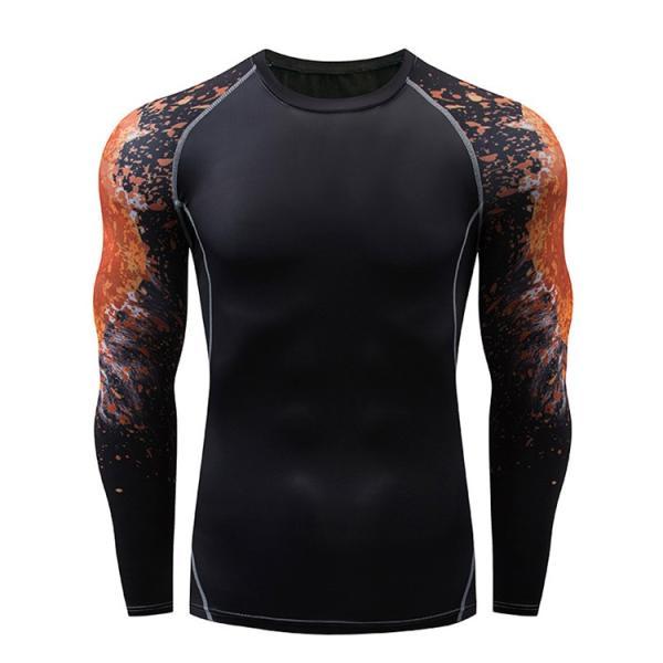 加圧インナー アンダーシャツ メンズ 加圧シャツ コンプレッションウェア 吸汗 速乾 トレーニングウェア スポーツウェア 長袖|otasukemann|15