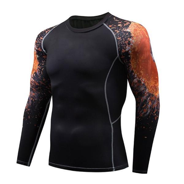 加圧インナー アンダーシャツ メンズ 加圧シャツ コンプレッションウェア 吸汗 速乾 トレーニングウェア スポーツウェア 長袖|otasukemann|16