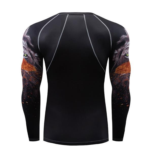 加圧インナー アンダーシャツ メンズ 加圧シャツ コンプレッションウェア 吸汗 速乾 トレーニングウェア スポーツウェア 長袖|otasukemann|17