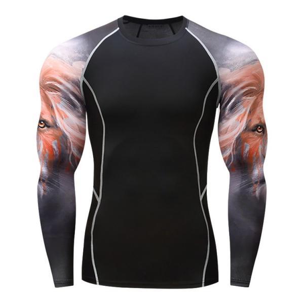 加圧インナー アンダーシャツ メンズ 加圧シャツ コンプレッションウェア 吸汗 速乾 トレーニングウェア スポーツウェア 長袖|otasukemann|18