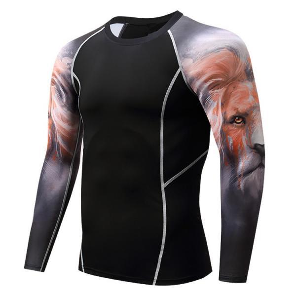 加圧インナー アンダーシャツ メンズ 加圧シャツ コンプレッションウェア 吸汗 速乾 トレーニングウェア スポーツウェア 長袖|otasukemann|19