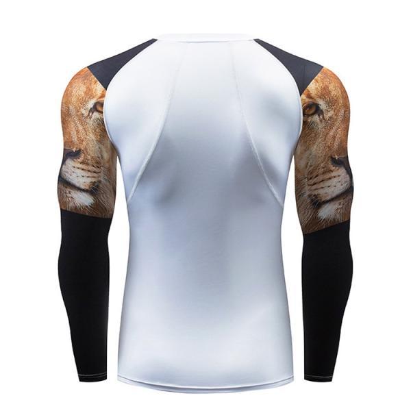 加圧インナー アンダーシャツ メンズ 加圧シャツ コンプレッションウェア 吸汗 速乾 トレーニングウェア スポーツウェア 長袖|otasukemann|05