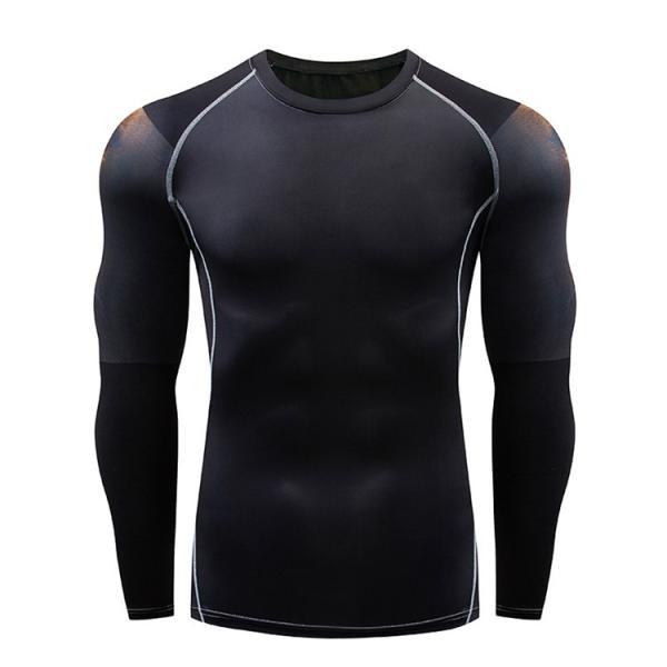 加圧インナー アンダーシャツ メンズ 加圧シャツ コンプレッションウェア 吸汗 速乾 トレーニングウェア スポーツウェア 長袖|otasukemann|06