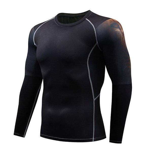 加圧インナー アンダーシャツ メンズ 加圧シャツ コンプレッションウェア 吸汗 速乾 トレーニングウェア スポーツウェア 長袖|otasukemann|07