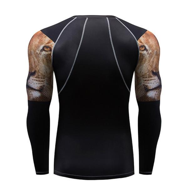 加圧インナー アンダーシャツ メンズ 加圧シャツ コンプレッションウェア 吸汗 速乾 トレーニングウェア スポーツウェア 長袖|otasukemann|08