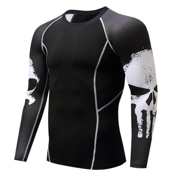 加圧インナー アンダーシャツ メンズ 加圧シャツ コンプレッションウェア 吸汗 速乾 トレーニングウェア スポーツウェア 長袖|otasukemann|10