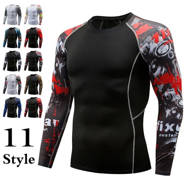 加圧シャツ アンダーシャツ メンズ 長袖 コンプレッションウェア トレーニングウェア 加圧インナー 吸汗速乾 運動着 おしゃれ|otasukemann