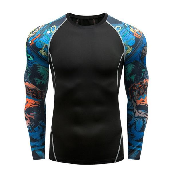 加圧シャツ アンダーシャツ メンズ 長袖 コンプレッションウェア トレーニングウェア 加圧インナー 吸汗速乾 運動着 おしゃれ|otasukemann|10