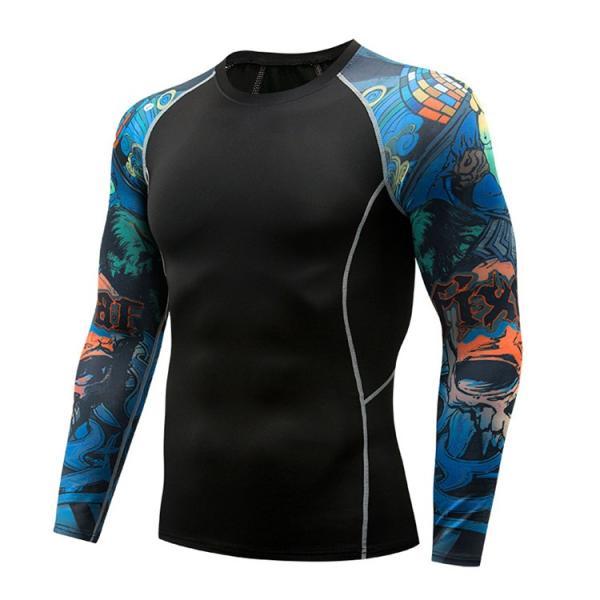 加圧シャツ アンダーシャツ メンズ 長袖 コンプレッションウェア トレーニングウェア 加圧インナー 吸汗速乾 運動着 おしゃれ|otasukemann|22