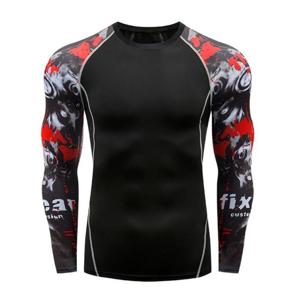 加圧シャツ アンダーシャツ メンズ 長袖 コンプレッションウェア トレーニングウェア 加圧インナー 吸汗速乾 運動着 おしゃれ|otasukemann|15