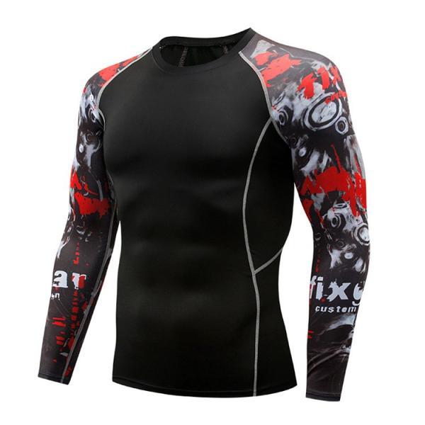 加圧シャツ アンダーシャツ メンズ 長袖 コンプレッションウェア トレーニングウェア 加圧インナー 吸汗速乾 運動着 おしゃれ|otasukemann|16