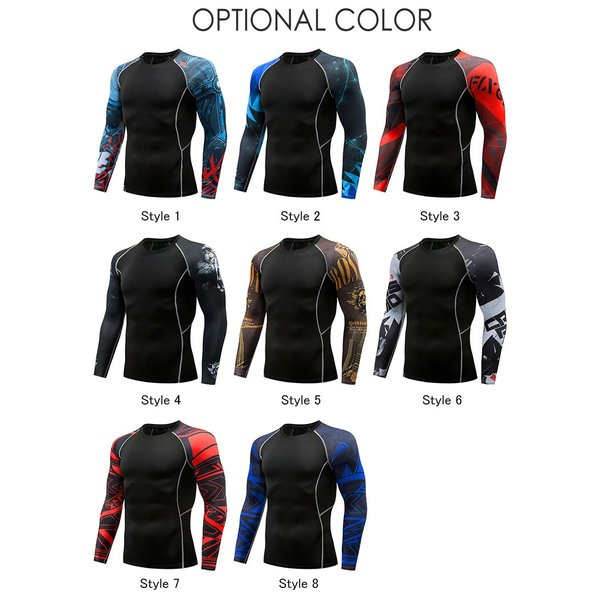 コンプレッションウェア メンズ 運動着 長袖 加圧シャツ アンダーシャツ スポーツウェア 加圧インナー 加圧レギンス トレーニングウェア 速乾|otasukemann|02