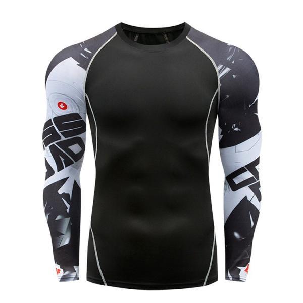 コンプレッションウェア メンズ 運動着 長袖 加圧シャツ アンダーシャツ スポーツウェア 加圧インナー 加圧レギンス トレーニングウェア 速乾|otasukemann|08